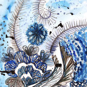 Floral watercolor pattern — Stock Photo