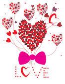 Valentines love postcard — Stock Vector