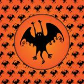 Halloween bat silhouette — Stock Vector