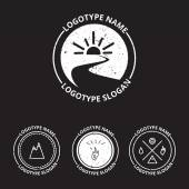 生態ロゴタイプのセットをベクトル アイコンと自然のシンボル — ストックベクタ