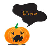 Emotional Halloween pumpkins — Stock Vector