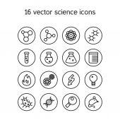 Ciencia conjunto de iconos — Vector de stock