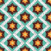 Grunge renkli geometrik seamless modeli Cadılar Bayramı — Stok Vektör