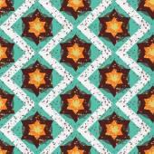 Grunge colorful halloween geometric seamless pattern — Stock Vector