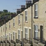 Row Stone and Slate Terraced Houses Lancashire — Stock Photo #76610867