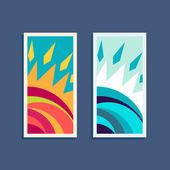 Design vector sun logo elements — Stock Vector