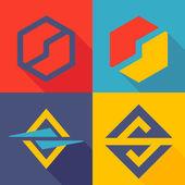 S letter line logo set — Stock Vector