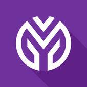 M letter line logo — Stock Vector