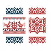 古いパターンを刺繍します。 — ストックベクタ