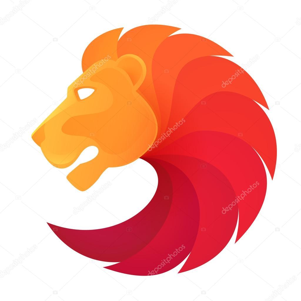 leeuw hoofd logo stockvector 75677235 lion vector free lion vector image