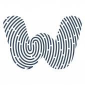 W brev line logotyp. — Stockvektor