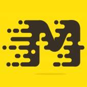 M letter logo design template. — Stock Vector