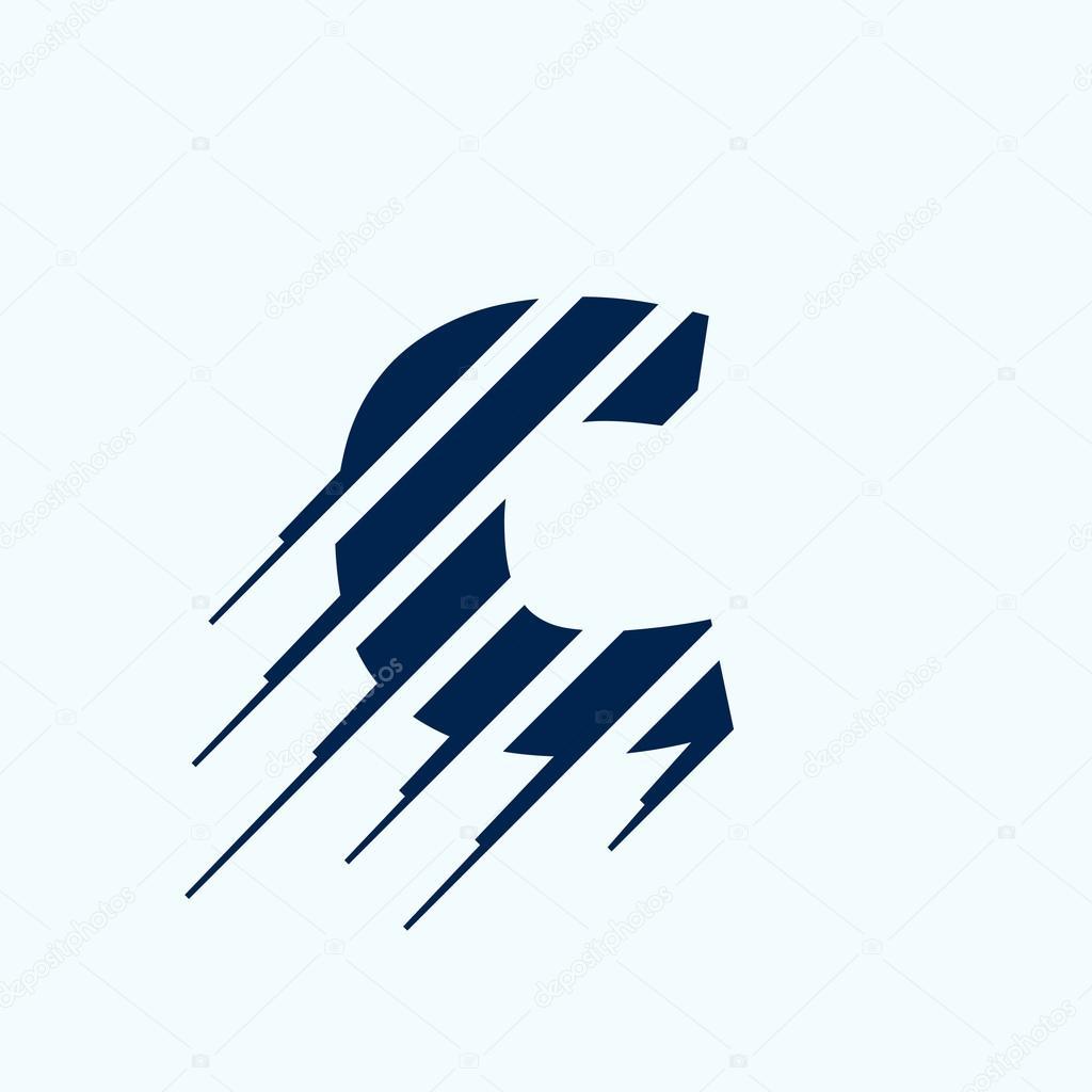 c letter logo design template stock vector kaer dstock 93070326. Black Bedroom Furniture Sets. Home Design Ideas