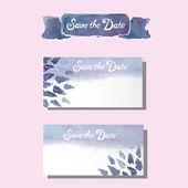 Wedding watercolor set, card, invitation flowers — Stock Vector