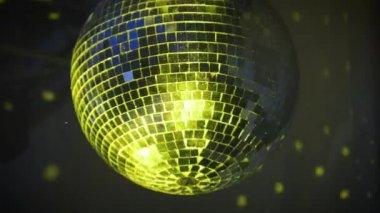 Disco Mirror Ball Center Glitter — Stock Video