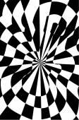 Guitar optical illusion vector illustration — Stock Photo