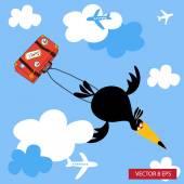 Summer trip — Stock Vector