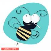 Böse Biene cartoon — Stockvektor