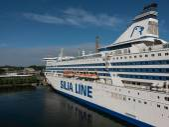Silja Line ferry in port — Stock Photo