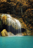 Waterfall with blue stream in the nature Thailand forest — Stock Photo