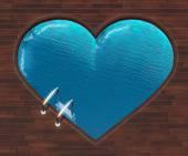 Shaped pool heart — Stock Photo