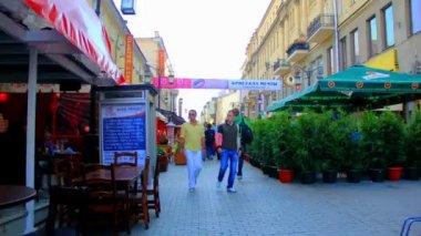 Arbat - pedestrian street — Stock Video