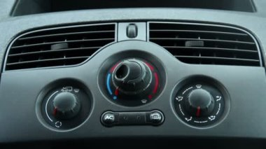 Close-up of Driver Using Car Defroster — Stock Video