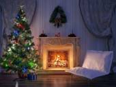 Christmas Room Interior Design — Stock Photo