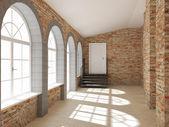 Render empty interior — Foto Stock