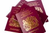 Passports on White Background — Stock Photo