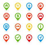 Navigation icons - Illustration — Vector de stock