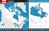 Canada infographic map - illustration. — Stock Vector