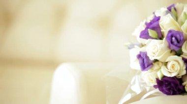 Wedding Bouquet — Stock Video
