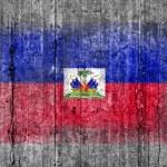 Постер, плакат: Haiti flag painted on background texture gray concrete