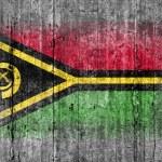 Постер, плакат: Vanuatu flag painted on background texture gray concrete