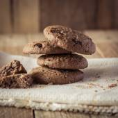 Cookies on wooden table — Stock Photo