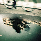 Bicycle lane after a rain — Stock Photo