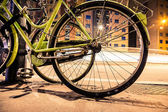 Bicycle  parked on the street — Stock Photo