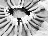 Little Dancer legs in a circle — Stock Photo