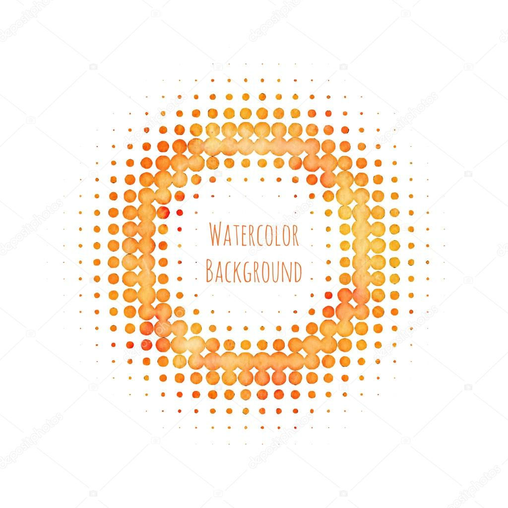 Abstract Orange Halftone Pattern Background For Design — Stock ...