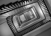 Stairway from below — Stock Photo