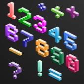 Pixel Number — Stock Vector