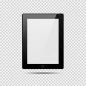 Modern digital tablet PC with shadow on black and white background — Stock Vector