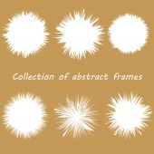 Set of six frames in vintage colors. vector. isolated. — Stock Vector