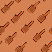 Background of brown cover to guitar — Stock Vector