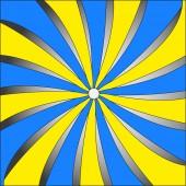 Abstrakta objektet i spiral — Stockvektor