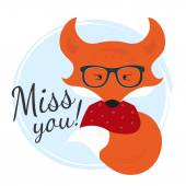 Miss you — Stock Vector