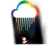 Creative cloud — Stock Vector