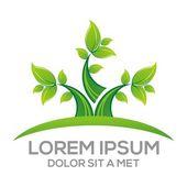 Logo Vector Leaf Floral Design Element Eco blad — Stockvektor