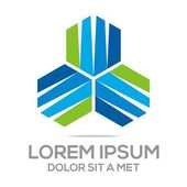 Business Creative Star Emblem logo Design Icon Solution — Stock Vector